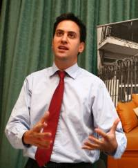ed milliband talking about building more properties by 2020